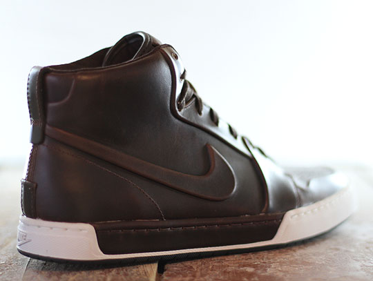 nike brown leather high tops