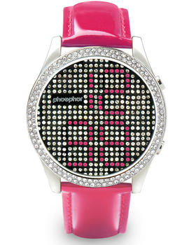phosphor crystal patent strap watch
